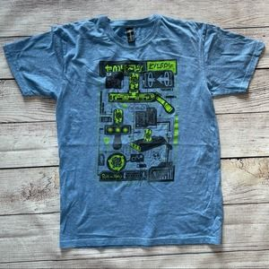 RICK AND MORTY SS SHIRT BLUE - M